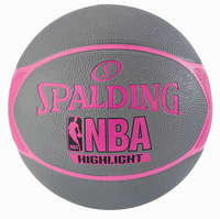 Spalding NBA Highlight Outdoor 4HER Basketbal grijs roze