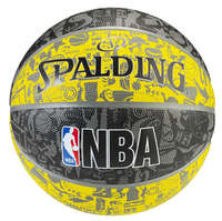 Spalding NBA Graffiti Outdoor Basketball Yellow