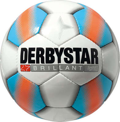 Derbystar Voetbal Brillant Light Wit/Blauw/Oranje