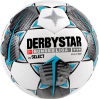 Derbystar Mini Voetbal Bundesliga Brillant Mini Wit zwart petrolblauw maat 1
