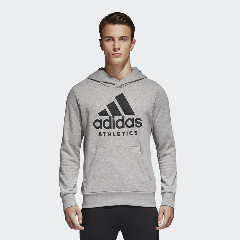 adidas Sport ID Pullover Hoodie, Grijs, S, Male, Not Sports Specific