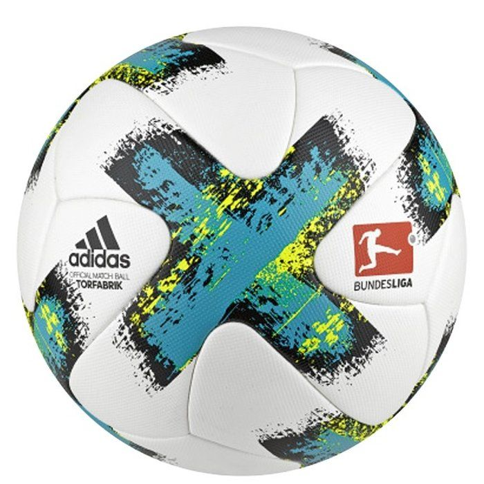 Adidas Torfabrik Official Match Ball White-Energy Blue -Black-Solar Yellow