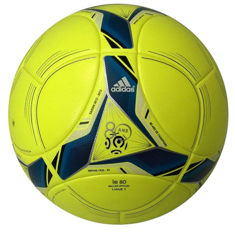 Adidas Voetbal Pro Ligue 1 Wedstrijdbal Geel-Blauw