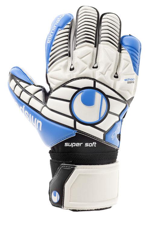 Keepershandschoenen Eliminator soft volwassenen wit-blauw