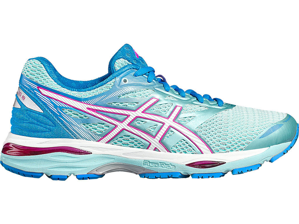 Asics Gel-Cumulus 18 women's running shoes (blue-pink) EU 42 US 10