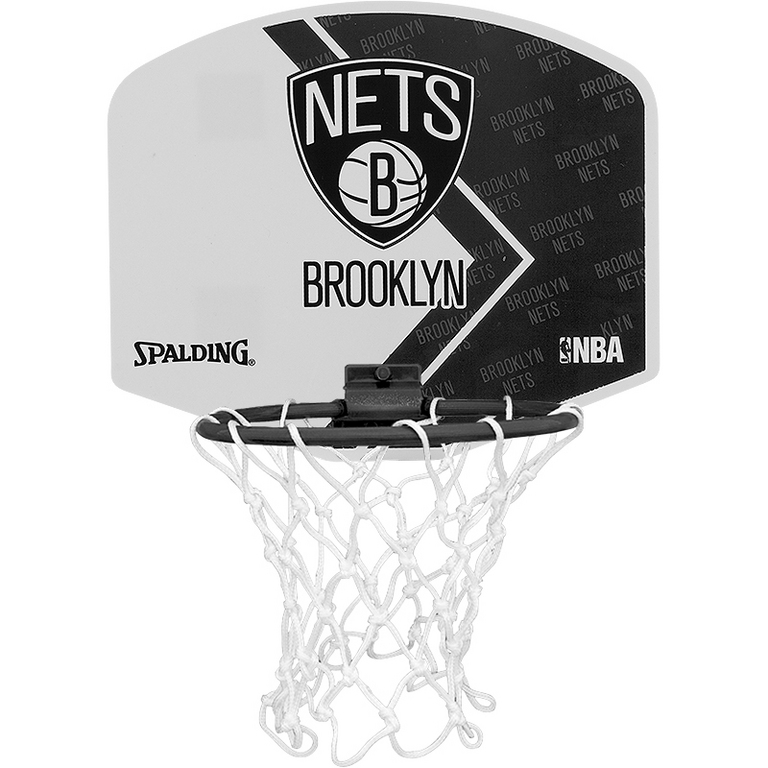 Spalding Basketbal Miniboard Brooklyn Nets zwart/wit