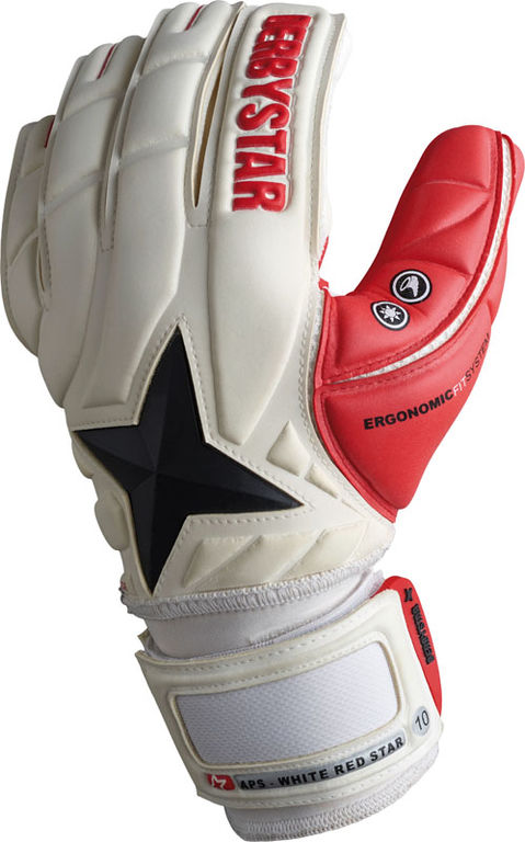 Derbystar Keepershandschoen APS White Red Star